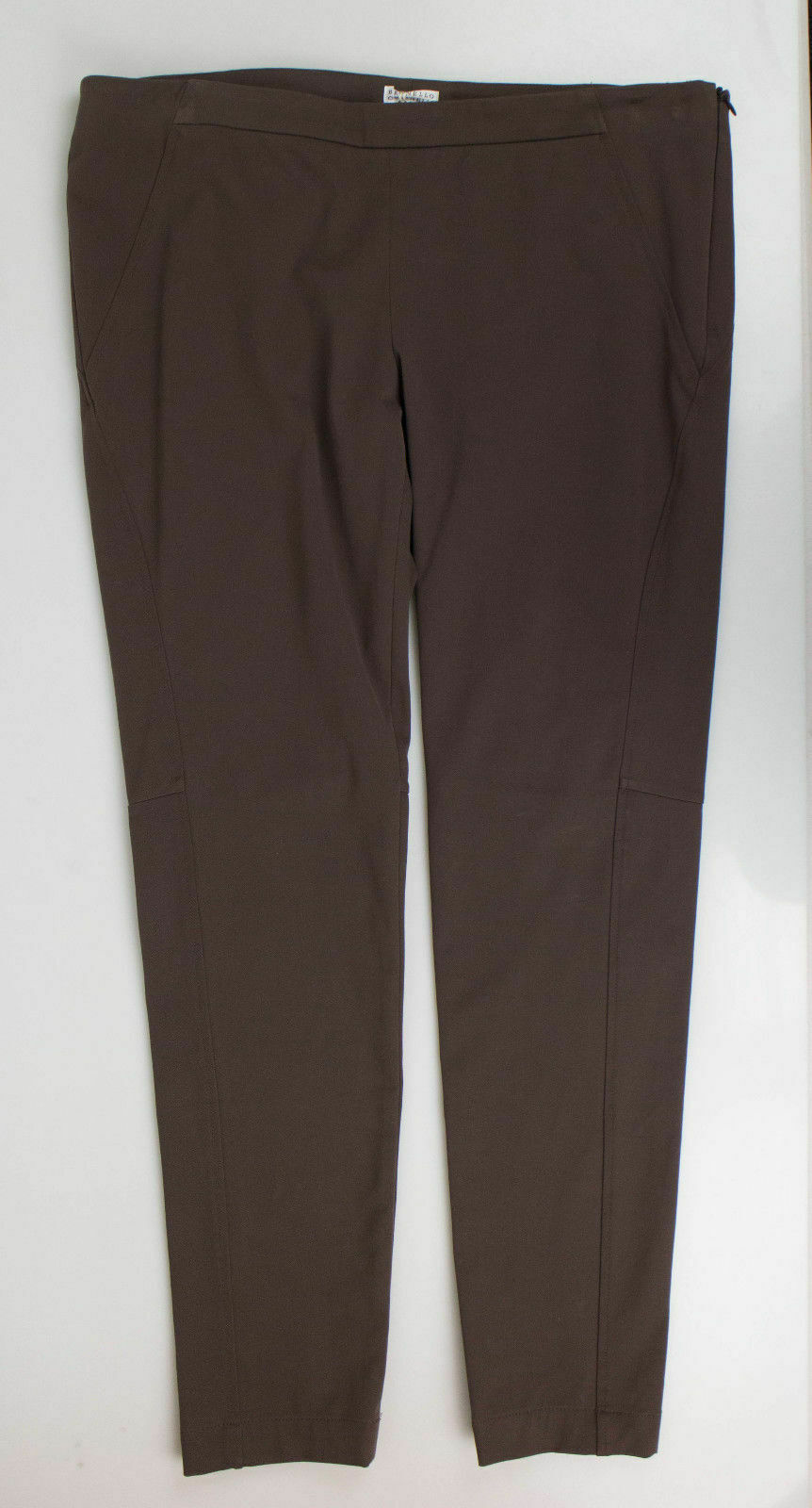 New BRUNELLO CUCINELLI Women's Brown Cotton Blend Dress Pants Size 12 48