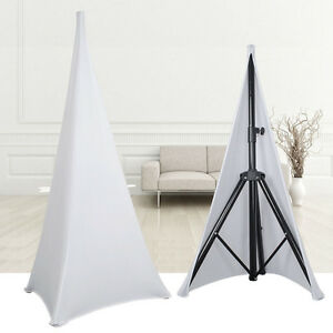 1pcs-Double-Sided-DJ-Home-Speaker-Stand-Scrims-White-Spandex-Lycra-Stretch-Cover