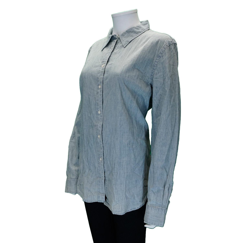 LAUREN RALPH LAUREN Size XL Button-Up Long Sleeve Top Shirt SUN FADED blueE