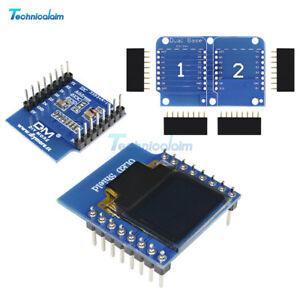 "OLED Shield for WeMos D1 mini 0.66/"" inch 64X48 IIC I2C for Arduino CompatibBLUS"