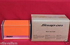 Snap On Electric Orange Mini Micro Top Chest Tool Box  Brand New