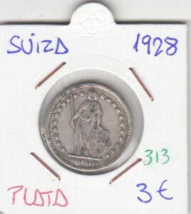 CR0313 MONEDA SUIZA PLATA 1 FRANCO 1928
