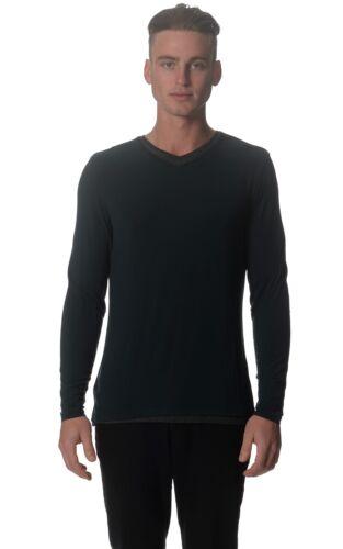 KIT e Ace da uomo Alcott Verde Nero Manica Lunga Cashmere Mix Top Maglione S M $150