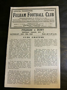 FULHAM v BURY 194849  FOOTBALL LEAGUE DIVISION 2 - <span itemprop=availableAtOrFrom> Hertfordshire, United Kingdom</span> - FULHAM v BURY 194849  FOOTBALL LEAGUE DIVISION 2 -  Hertfordshire, United Kingdom