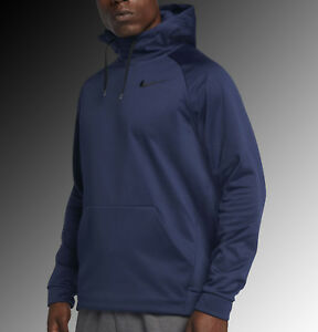 cf0f7f6bdd40 NIKE MEN S THERMA DRI-FIT PULLOVER BLUE BLACK HOODIE 826671-429 U.S. ...