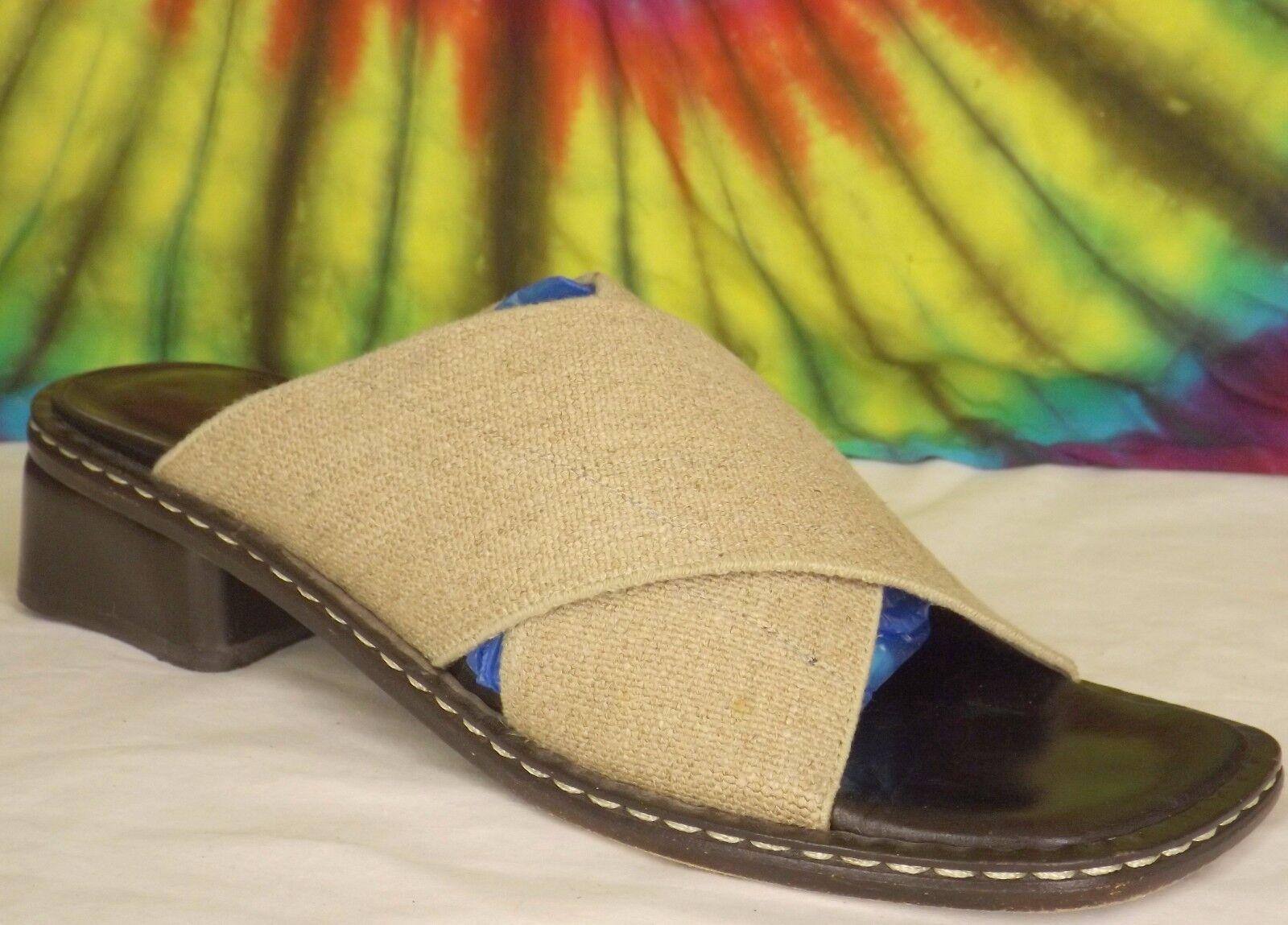 Größe Donald 7,5 M Damen-Tan Stoff Donald Größe J.Pliner Pliner Slip Sandalen Schuhe Djp 236b5c