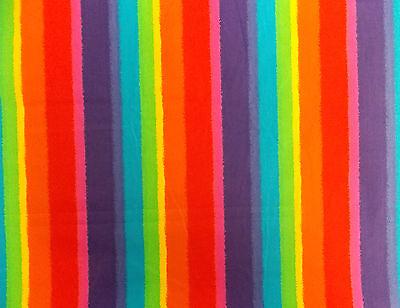 Rainbow Poplin 100% Cotton Quilting Patchwork Dressmaker NEW Fabric Material Sew