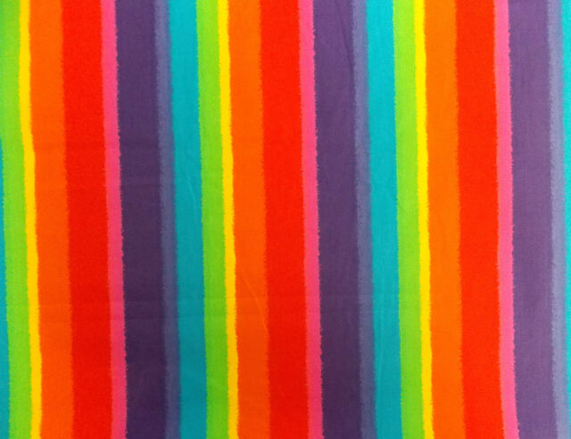 Rainbow Poplin 100% Cotton Quilting Patchwork Dressmaker NEW Fabric Material Sew