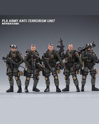 JOYTOY 1//18 PLA  Army Anti Terrorism Unit Military Soldier Model  Set of 5 New