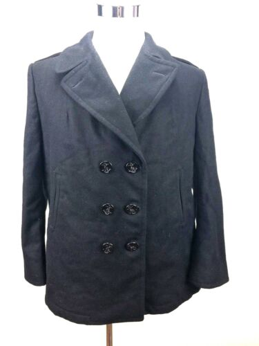 Overcoat 20r Us 100 Størrelse Coat Navy Women Autentisk Pea uld fSXgqXw