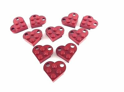 TEN 10x LEGO PURPLE HEARTS ~ Valentine/'s Day Love Charm Necklace Pendant  NEW