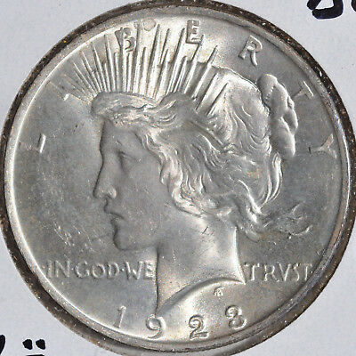 1923 $1 Silver Peace Dollars Uncirculated