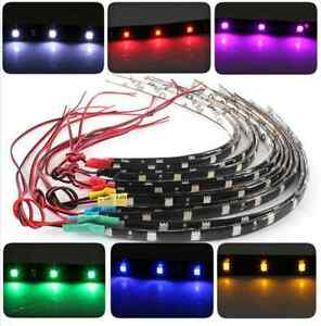2-X-Bright-White-LED-Strip-Lights-30cm-5050-SMD-Flexible-Waterproof-12V-Car-Auto