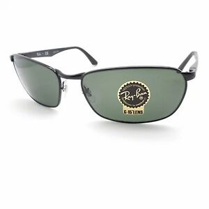 5dd00a2b58 Ray Ban RB 3534 002 Black G15 Green New Sunglasses Authentic rl