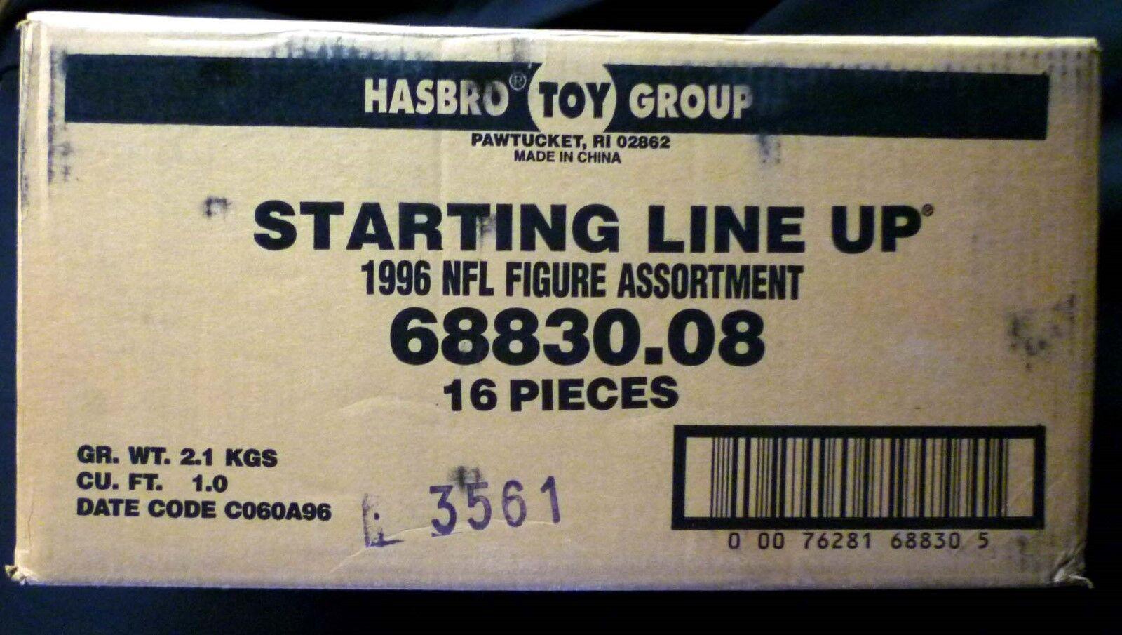 Hasbro Starting Line Up SLU NFL Football 1996 Sealed 16 Figure Case 68830.08
