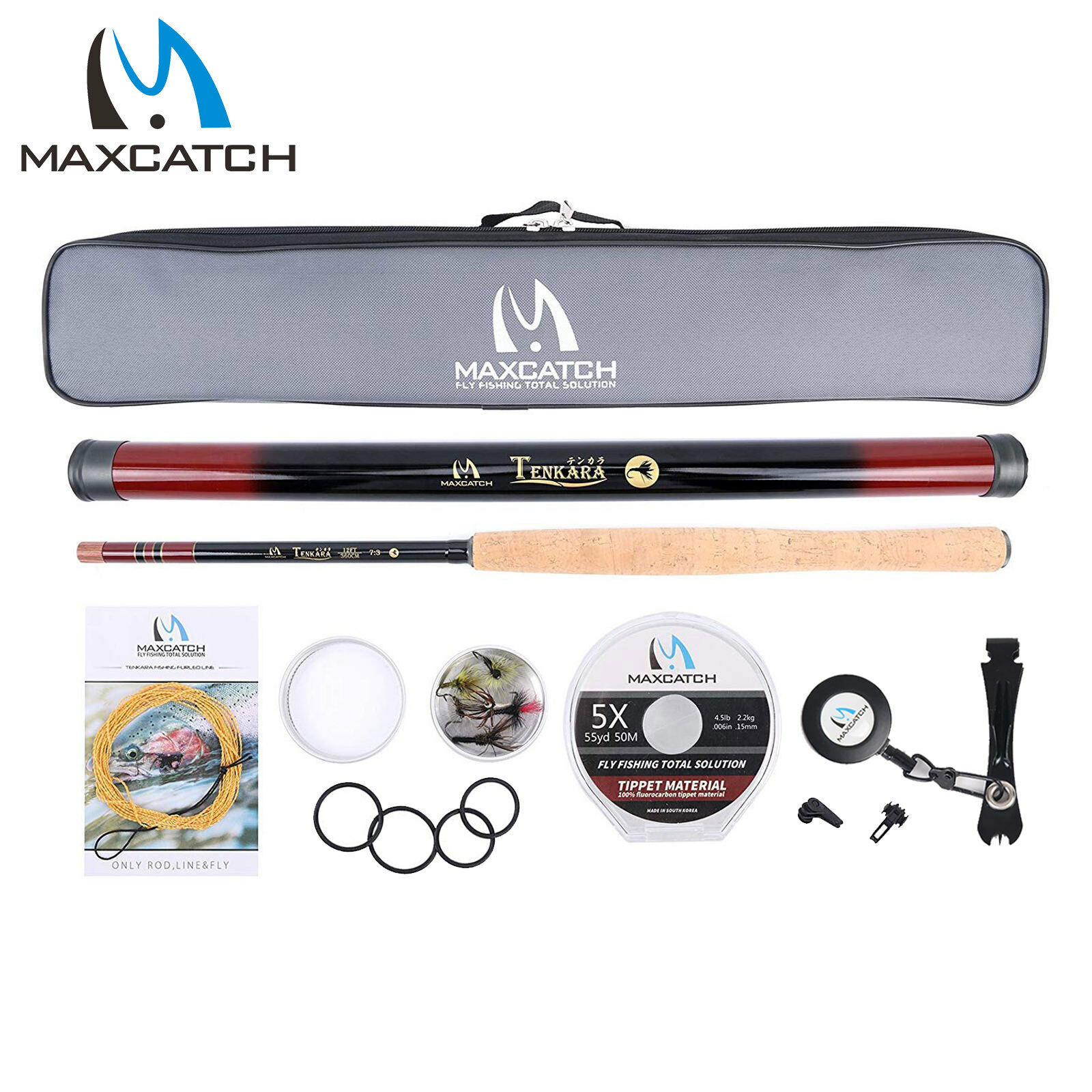 Maxcatch Tenkara Rod Combo Complete Kit 10111213ft 7 3 Action Fly Fishing Rod