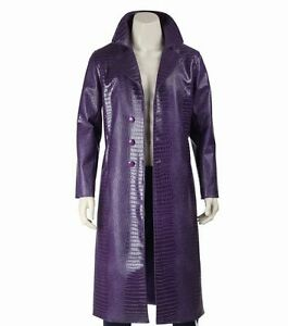 Crocodile Leto Leather Suicide Faux Coat Costume Jared Trench Coat Joker Squad SdTaw0