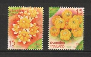 THAILAND-2017-NEW-YEAR-2018-2ND-SERIES-FLOWERS-COMP-SET-OF-2-STAMPS-MINT-MNH