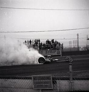 Details about Lions Drag Strip - Dragster Burnout - Vintage California Drag  Racing Negative