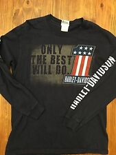 "Men's Harley Davidson ""Only The Best Will Do"" Angleton Texas Long Sleeve T-shirt"