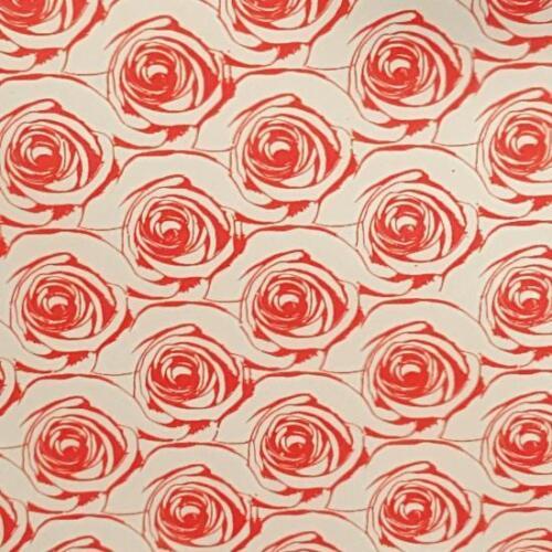 Large Red Rose Chocolate Transfer Sheet