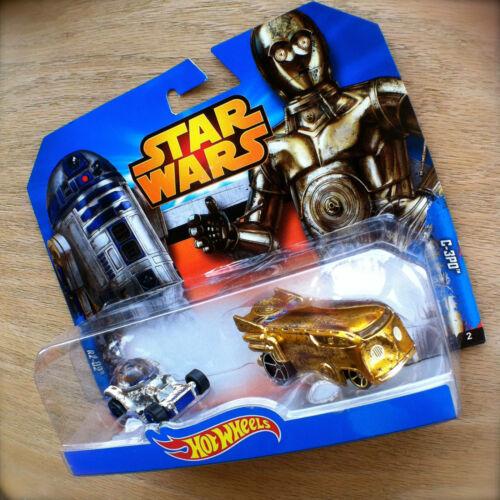 Disney STAR WARS Hot Wheels C-3PO /& R2-D2 diecast Mattel INTERNATIONAL CARD 2pk