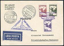 163/Zeppelin Ungarn 1931 Österreichfahrt Zuleitungspost Postkarte Si 116