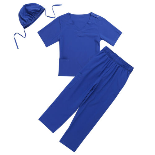 Doctor Costume Kid Girl Boy Nurse Uniforms Surgeon Coats Cosplay Fancy Dress Up