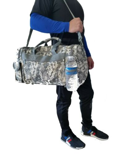 "18/""Tactical Military Duffel Digital Camo Gun Ammo Range Gear Bag ACU Army Duffle"
