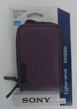 Sony Cyber Shot Bloggie Camera Soft Carrying Case Padded Purple Violet LCS CSVC