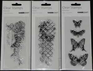 Choose from 2 KAISER Kaisercraft TEXTURE Clear Stamps /'QUOTES /& SAYINGS/'