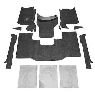 Bed Rug BRCYJ76F 8 Piece Front Floor Kit for 1976-1995 Jeep Wranger CJ7/YJ