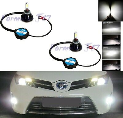 LED Kit N2 72W 9040 6000K White Two Bulbs Fog Light Replacement Upgrade Lamp OE