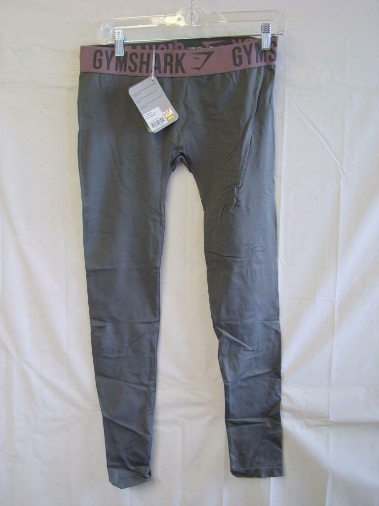 NWT Gymshark Fit Leggings Size Medium - Charcoal + Purple colors