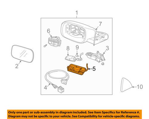 VOLVO OEM 03-06 XC90 Door Side Rear View Mirror-Sensor Left 8650033