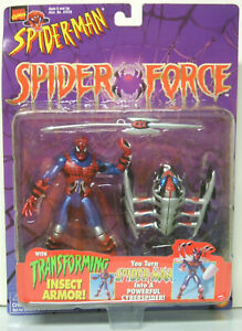Toy-Biz-Spider-Man-animated-series-Spider-Force-With-Transforming-Insect-Armor