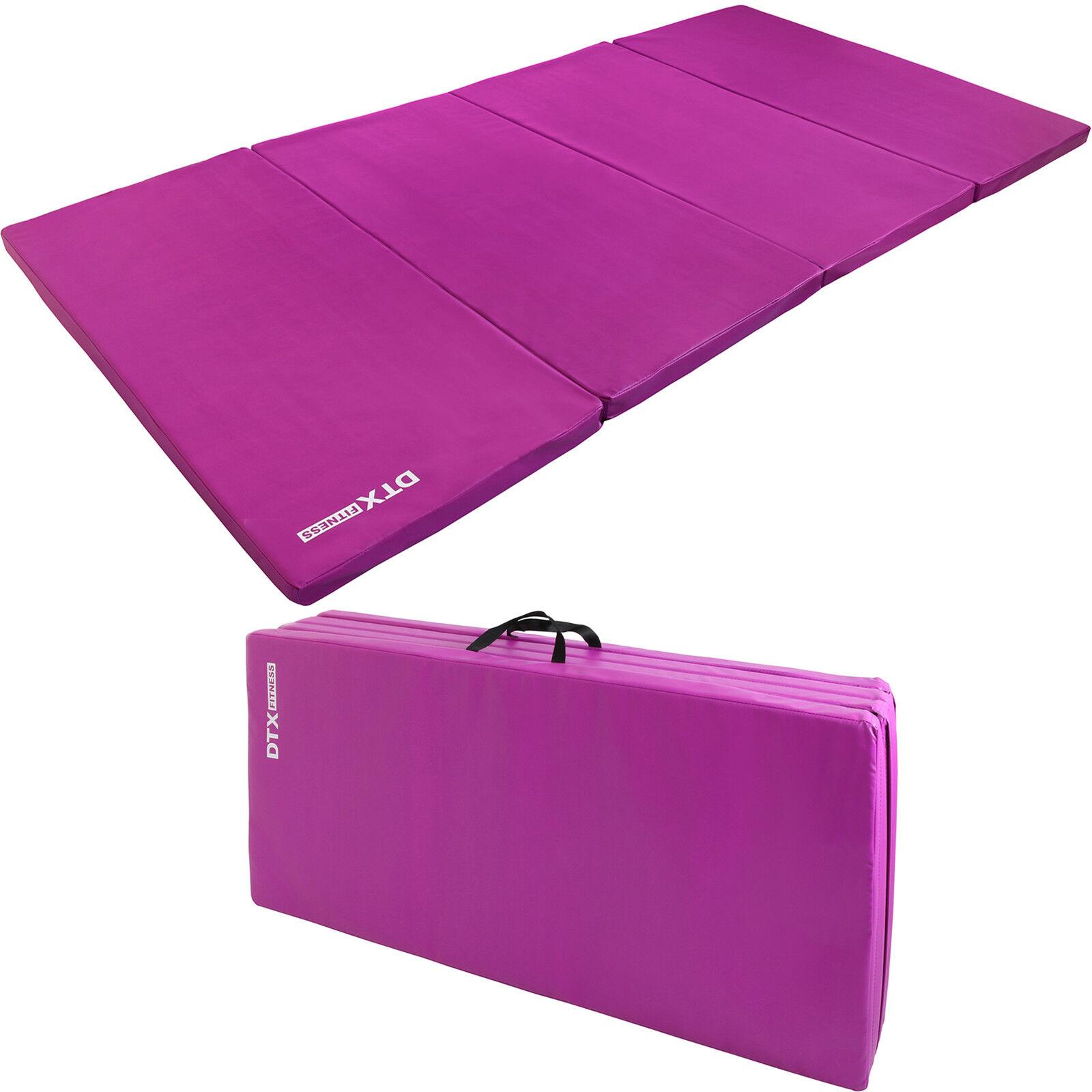 DTX Fitness Purple Folding Large Exercise Floor Mat Yoga Pilate Workout Gym Mat