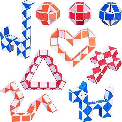 Mini Plastic Puzzle Cube To 9 Pack 24 Blocks Mini Snake Cube Magic Speed Cubes