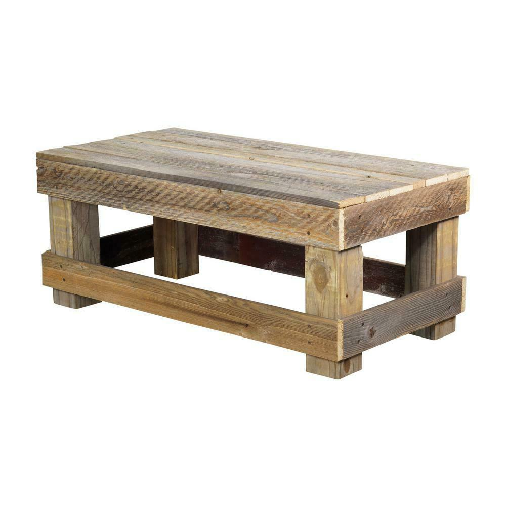 Rustic Reclaimed Wood Coffee Outdoor Table For Sale Online Ebay