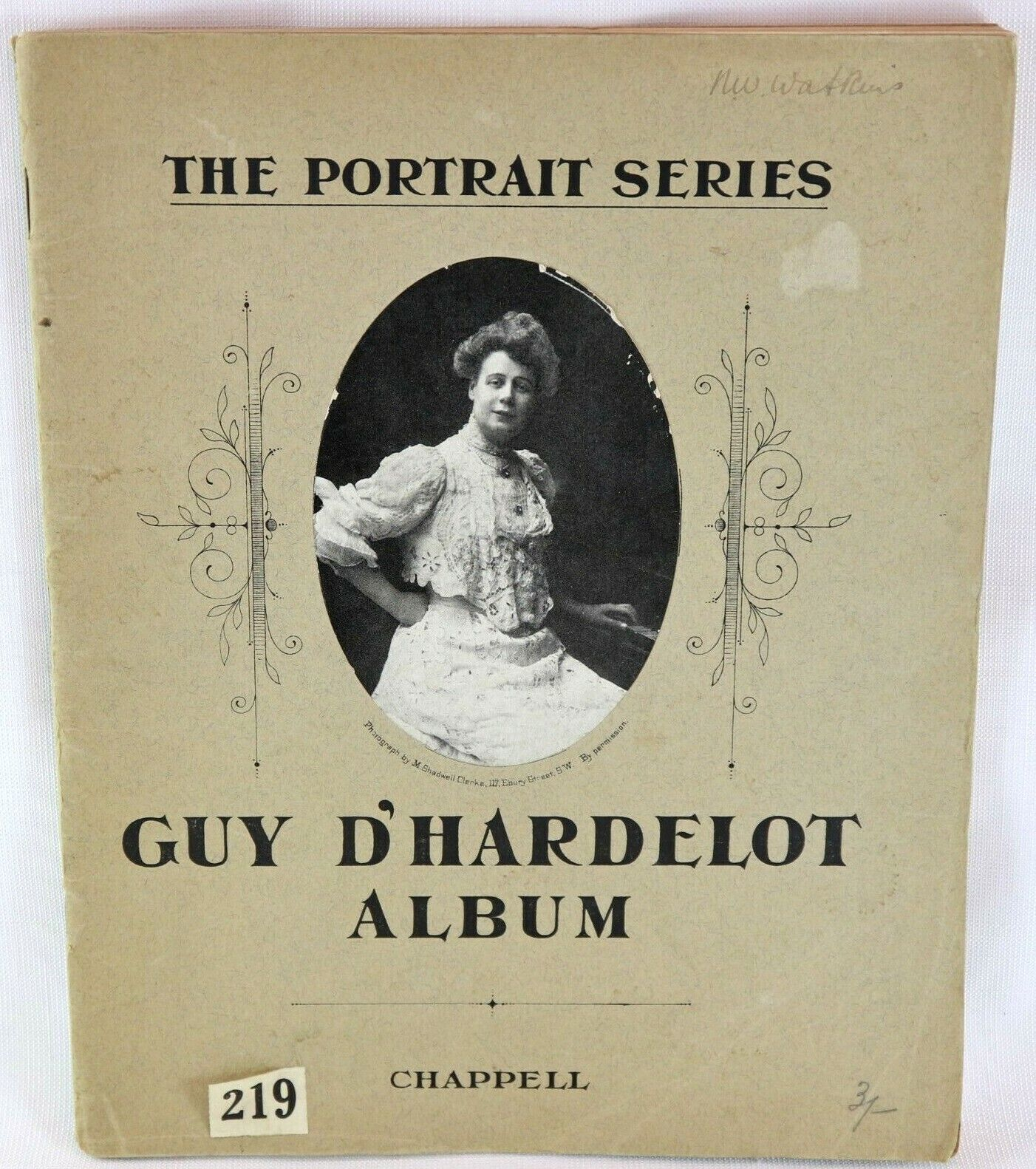 The Portrait Series Guy D'Hardelot Album Collectable 1906 Sheet Music Piano Book