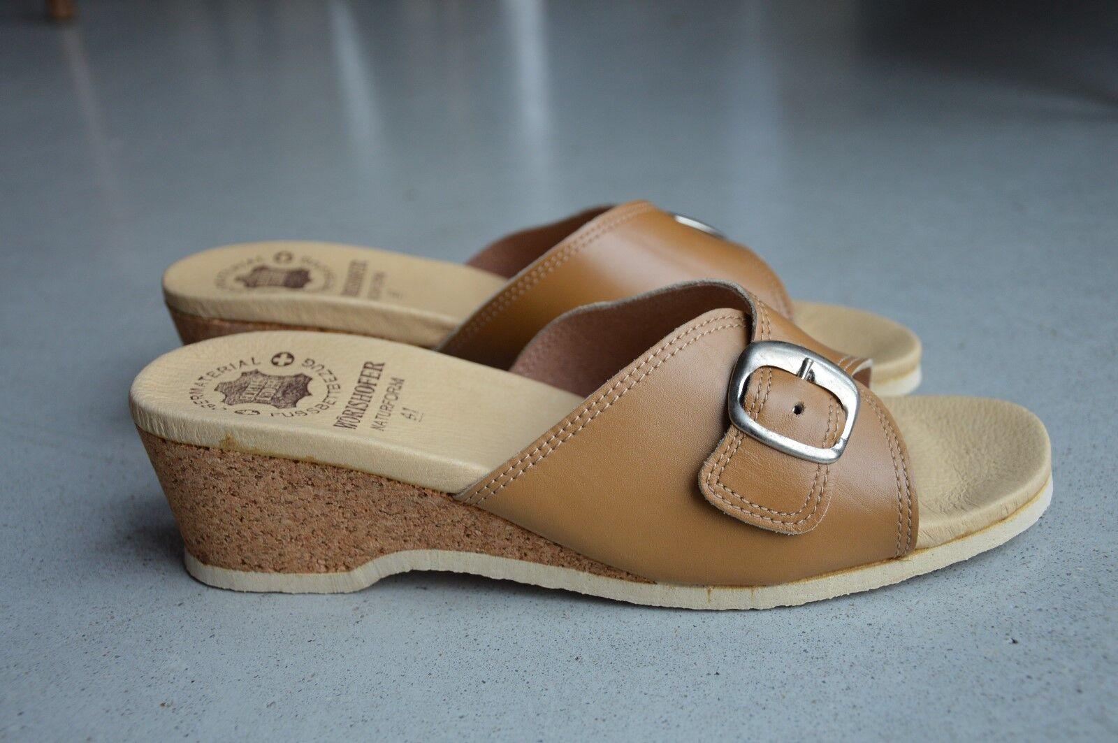 Wörishofer Clogs Zapatos para para para baño sandalia estorbos corcho OVP 70er True vintage 70s nos  Envío y cambio gratis.