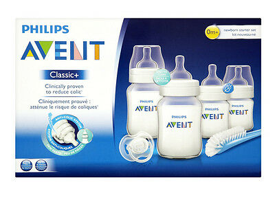 Cups, Dishes & Utensils Lower Price with Philips Avent Classic Plus Newborn Starter Set Scd371/00 **brand New** Feeding