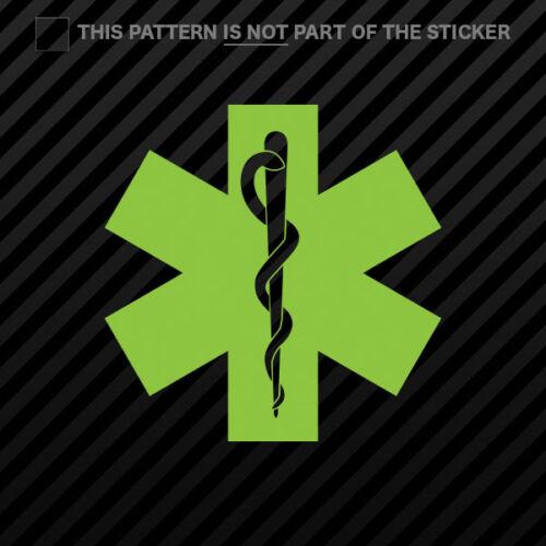 Star of Life Sticker Self Adhesive Vinyl emt #1 2x