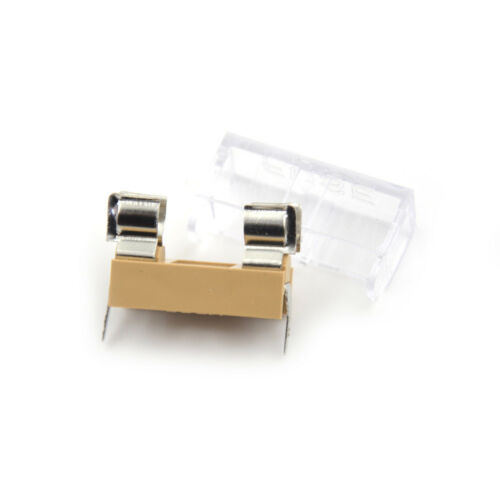 5PCS Panel Mount PCB Fuse Holder With Cover For 6x30mm Fuse 250V 1LS