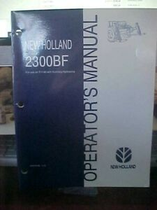 OM-New-Holland-2300BF-Use-on-TV140-w-Auxiliary-Hydraulics-Issue-8-98-1i