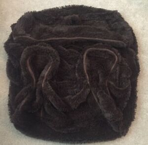 Pottery Barn Kids Shaggy Brown Fur Cover For Regular