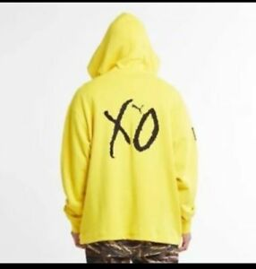 3925607b Details about NEW With Defects Puma XO The Weeknd Oversized Hoodie Cyber  Yellow Size Large