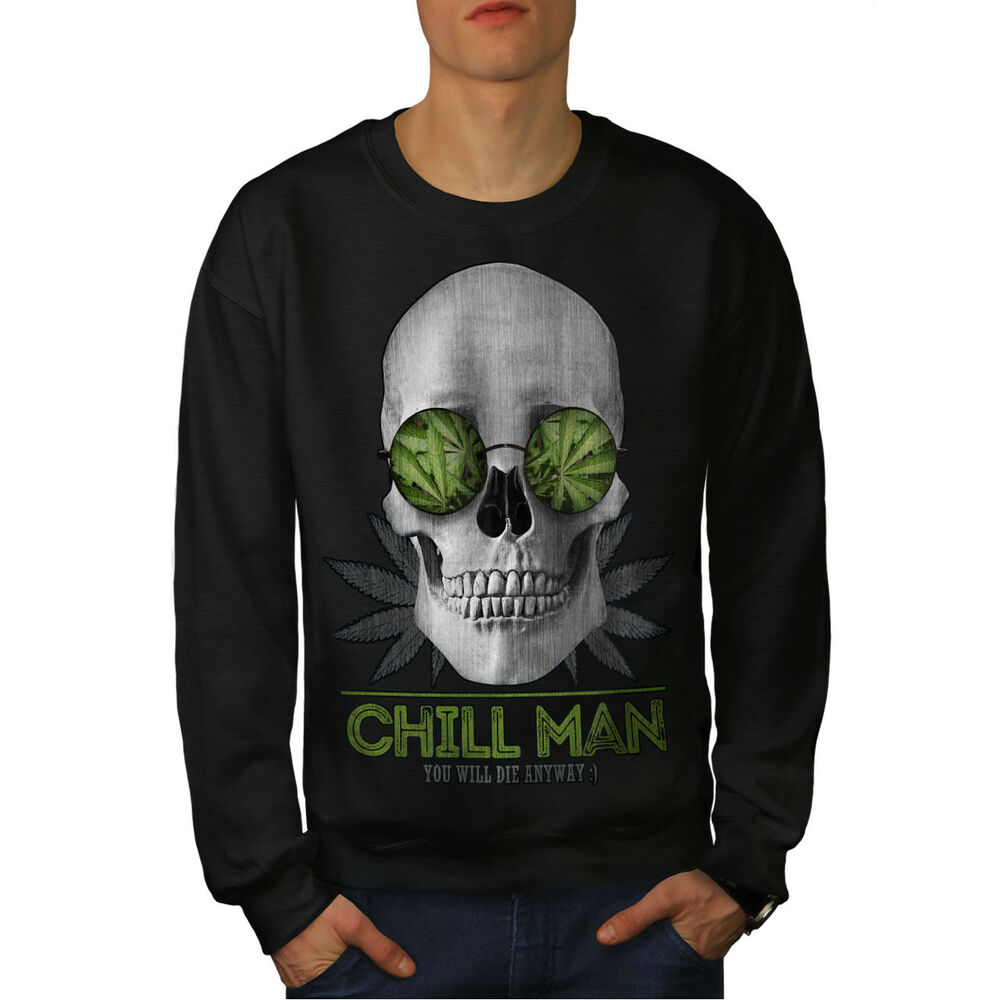 Brillant Wellcoda Chill Weed Stoner Rasta Homme Sweat, Chill Casual Pullover Pull Apparence Attractive
