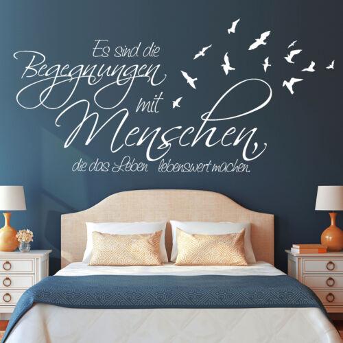 Schriftzug Begegnungen Menschen Zitat 55x124 von Wandtattoo-Loft 10172 Weisheit
