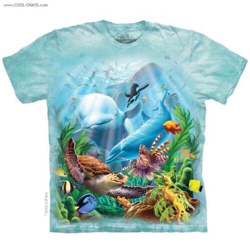 Under the Sea Garden T-Shirt Tie Dye Tee,Jerry Lofaro,dolphin,Penguin,Fish Tee